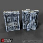 Gothic Spaceship Hive Wall and Column (Separate)