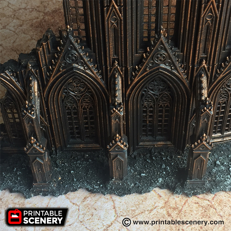 Cathedral Flying Buttress Printable Scenery