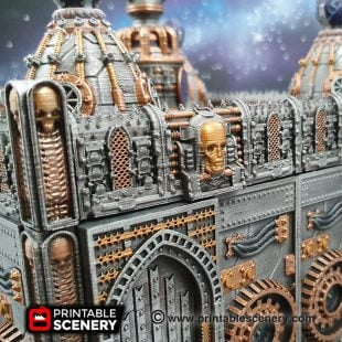 3d printed, gothic walls, 40K walls, OpenLOCK, machine walls
