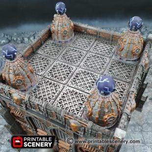3D printed, factory floor, gothic 40K, OpenLOCK