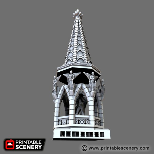 Gothic Bell Tower Printable