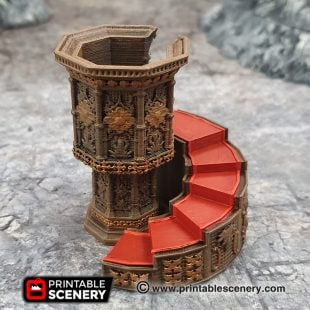 3D printed, gothic cathedral, 40K terrain, dungeons and dragons, 40K terrain