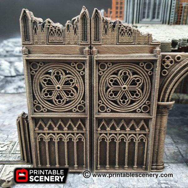 3D printed, Gothic Cathedral, 40k terrain, triforium, OpenLOCK