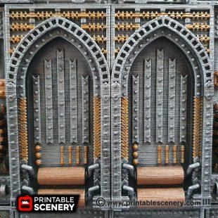 3D printed, Sci-fi factory, 40K terrain, blast wall, OpenLOCK
