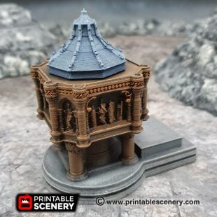 3D printed, cathedral font, Gothic cathedral, 40K terrain, dungeons and dragons