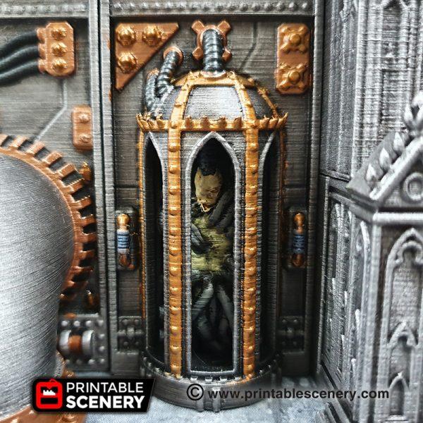 3D printed, Sci-fi factory, 40K terrain, gothic future, OpenLOCK