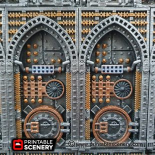 3D printed, machine wall, gothic factory, future factory, sci-fi