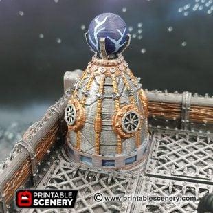 3D printed, sci-fi factory, 40K terrain