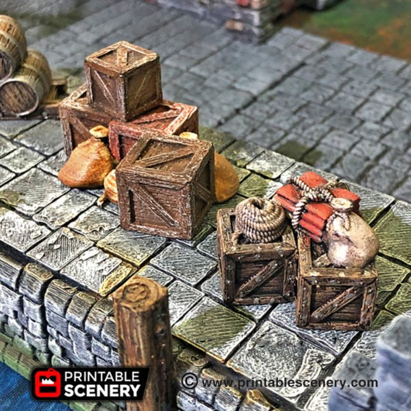 Lost Islands Warhammer Dungeons and Dragons Frostgrave Cargo Piles