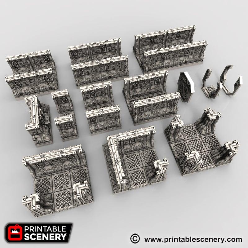 Gothic Spaceship Corridor
