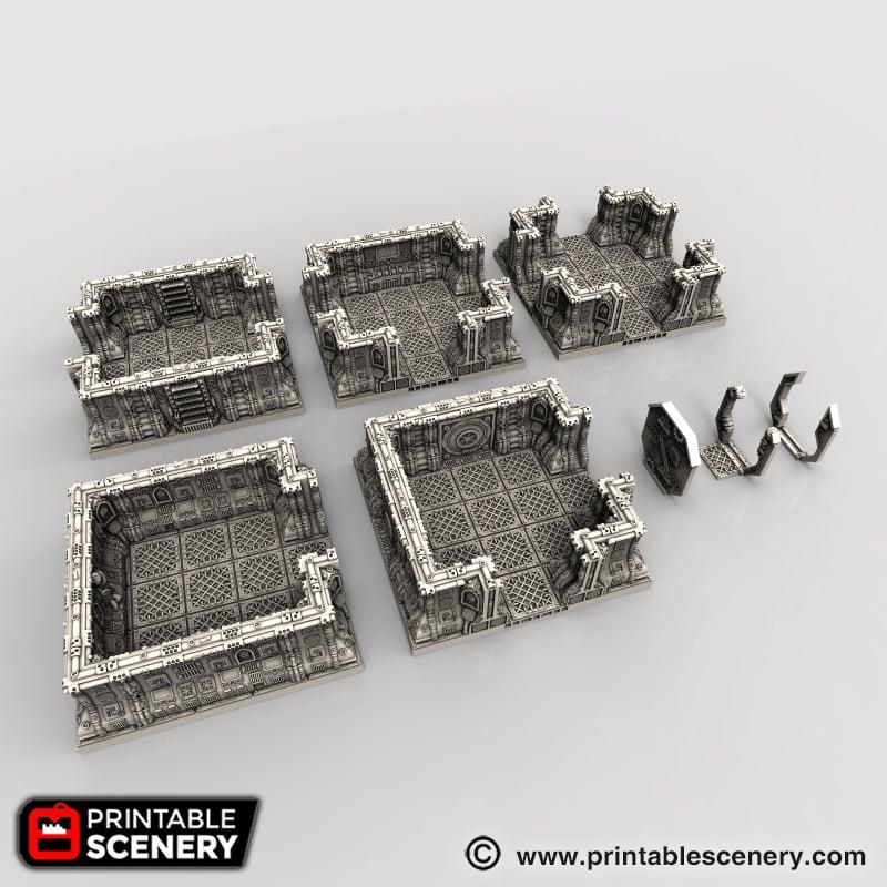 Gothic Spaceship Rooms