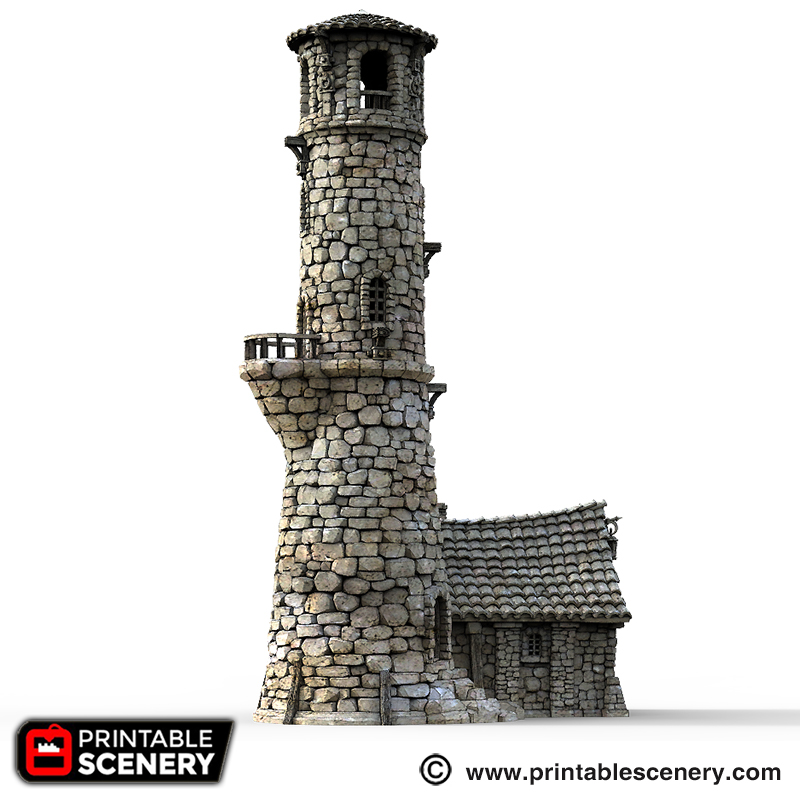 photograph about Printable Scenery called The Lighthouse