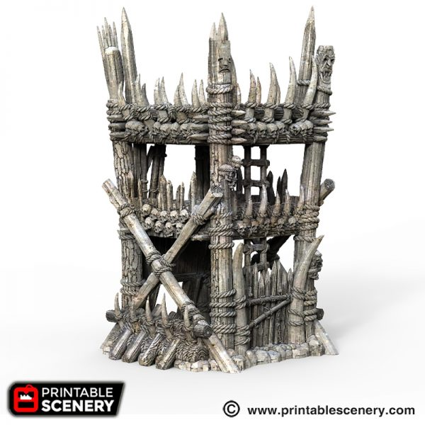 3D printed Tribal Tower Orcs