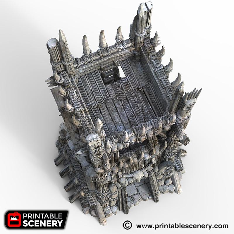 image regarding Printable Scenery referred to as Tribal Tower