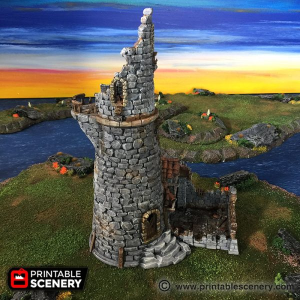 The Ruined lighthouse Printable