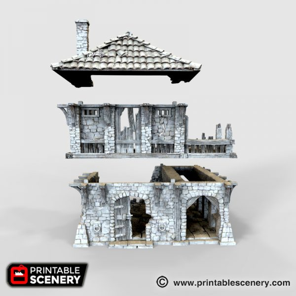 Ruined Warehouse Printable
