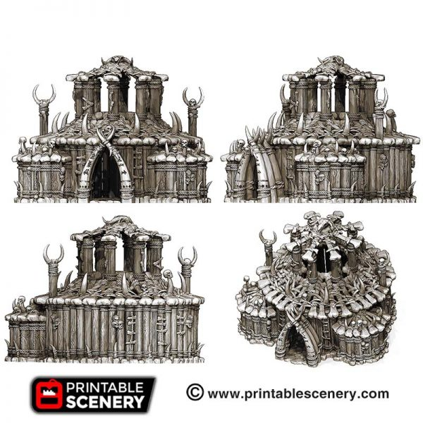3D printed Tribal Witch house temple