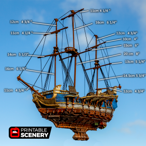 Flying Frigate 3D printable