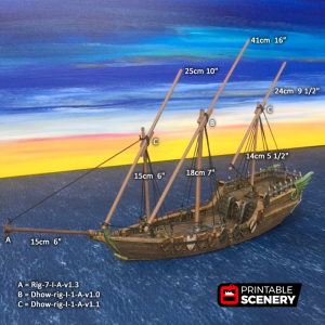 Dhow 3D printable
