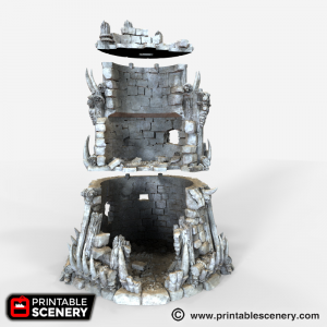 Ruined Tribal Fort Printable