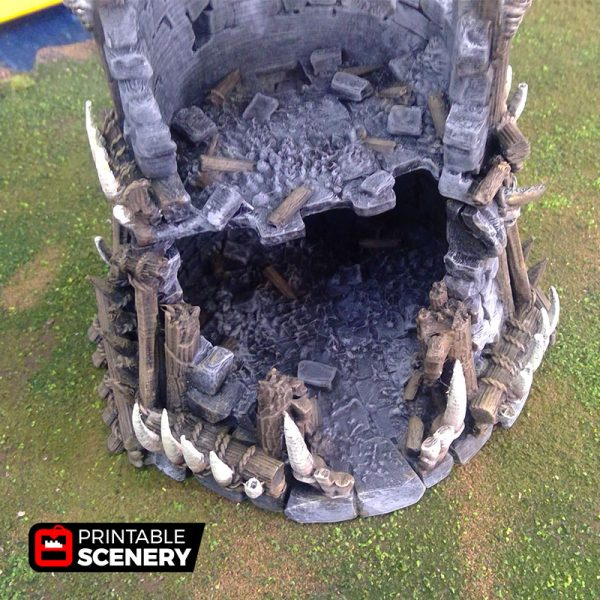Ruined Tribal Fort 3d printed