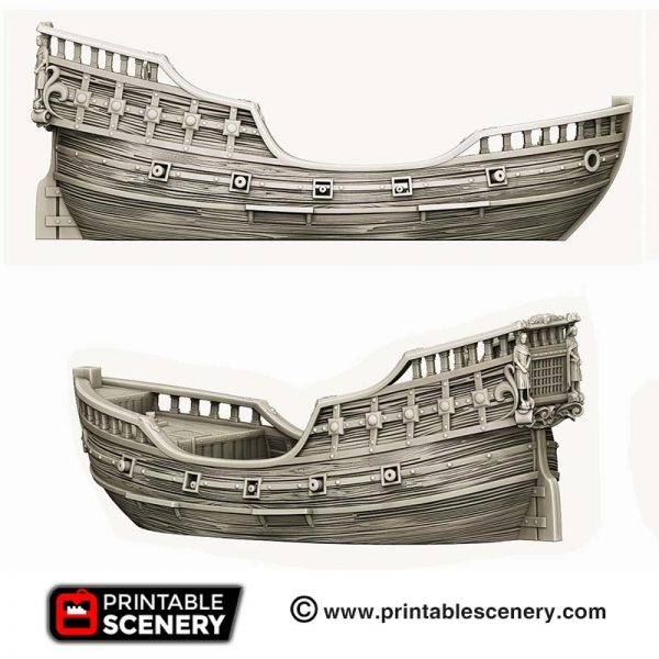 3D Printed Fluyt Ship Boat