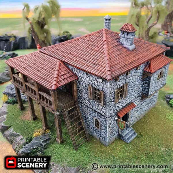 Port Tavern 3d printable Caribbean warhammer age of sigmar dungeons and dragons