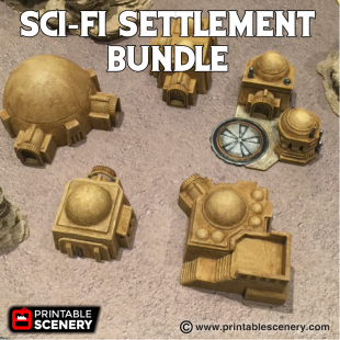 Sci-Fi Settlement Bundle Printable