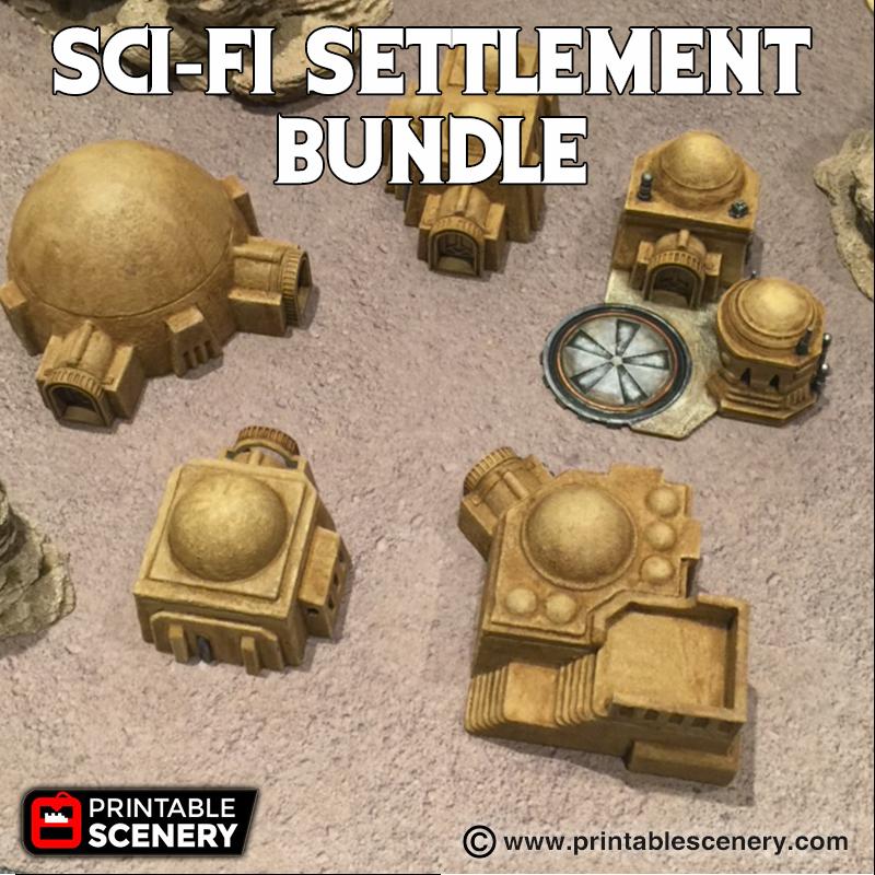 Sci-Fi Settlement Bundle Printable