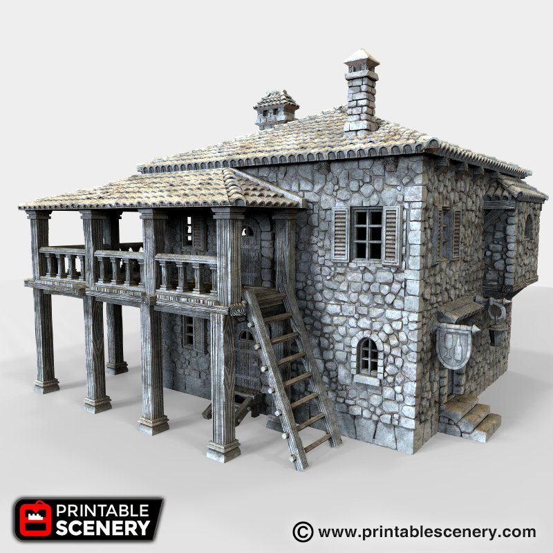 image relating to Printable Scenery called Port Tavern
