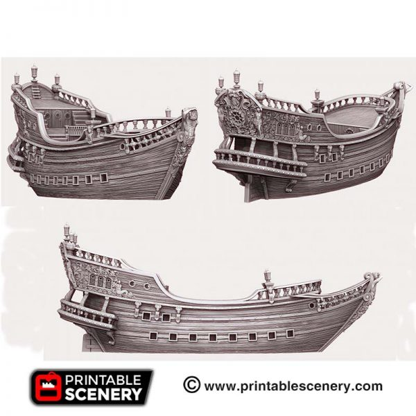 3D printed galleon ship.