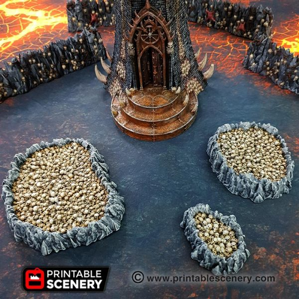 Demon Age of Sigmar Warhammer dungeons dragons pathfinder 3dprint skulls