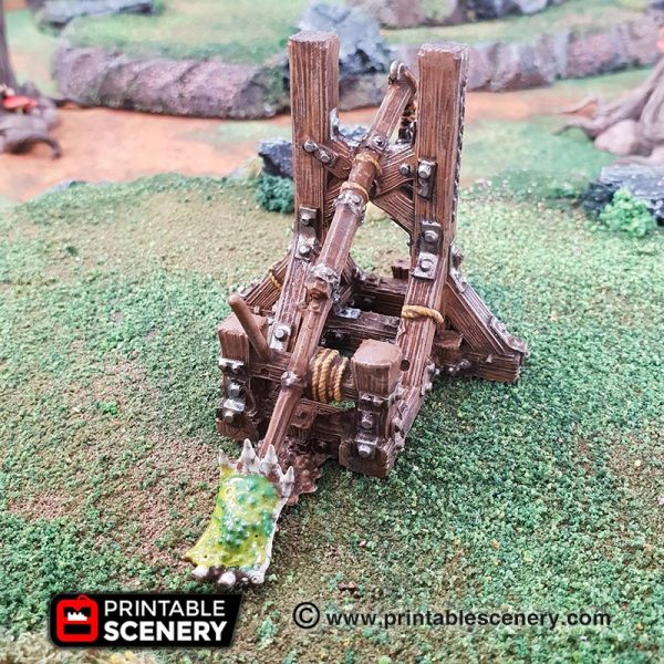 Plague Catapult trebuchet chaos warhammer age of sigmar dungeons dragons pathfinder 3dprinted