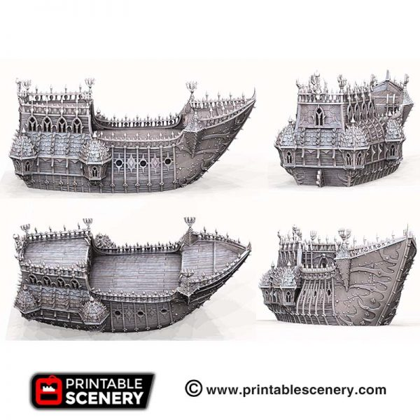 3D printed Gothic Black ship