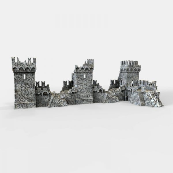 Port Winterdale Bastion and Ramparts ruins 3D printable