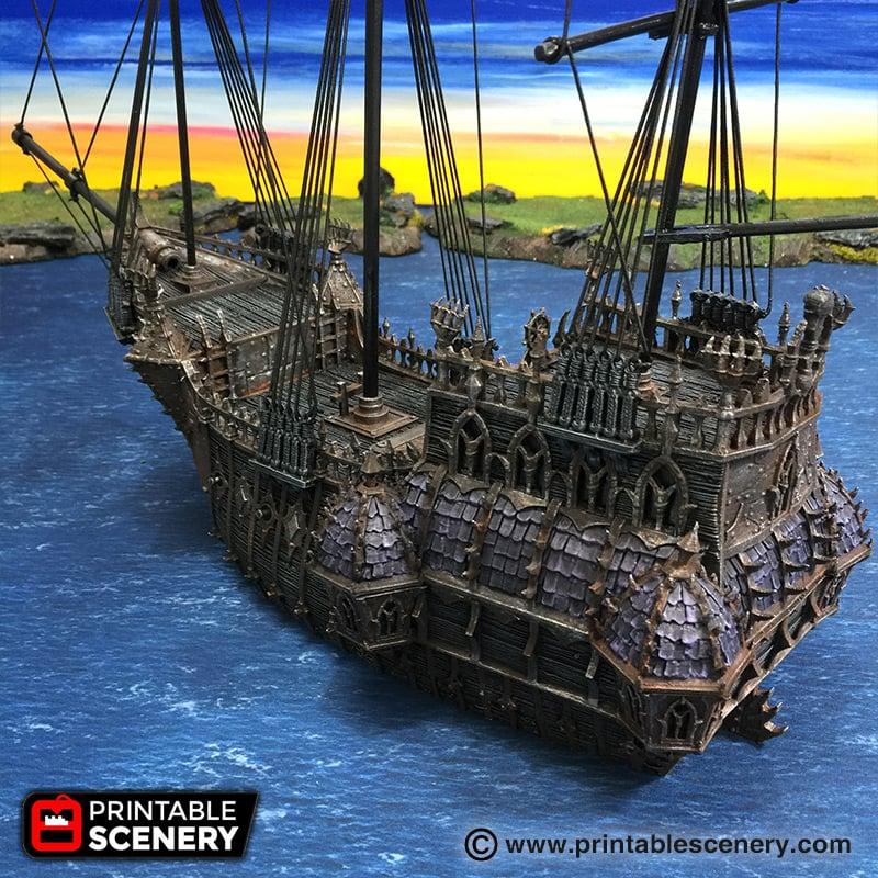 The Black Ship - Printable Scenery