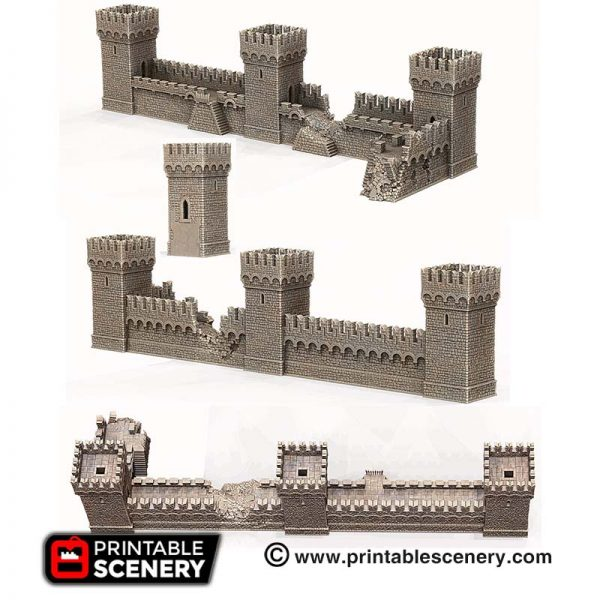 3D printed Port Winterdale Bastions and Ramparts