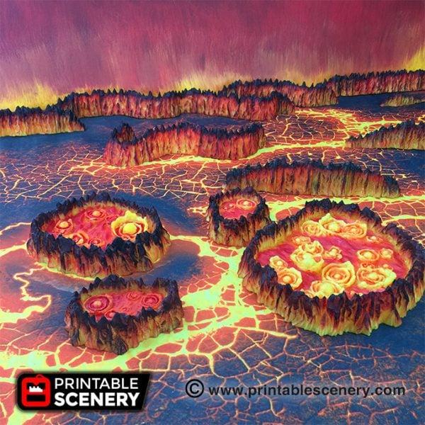 Demon Age of Sigmar Warhammer dungeons dragons pathfinder 3dprint fire lava