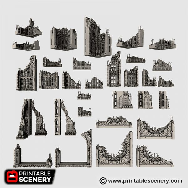 Demon Cathedral Ruins 3d printable