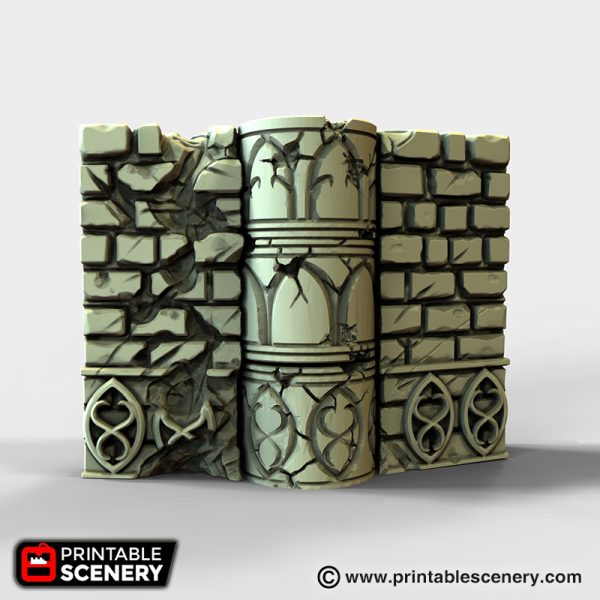 Elven Groves Hinged Wall 3d printable