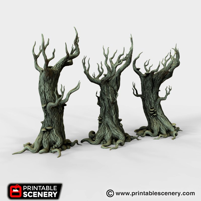 Gloomwood Trees - Printable Scenery