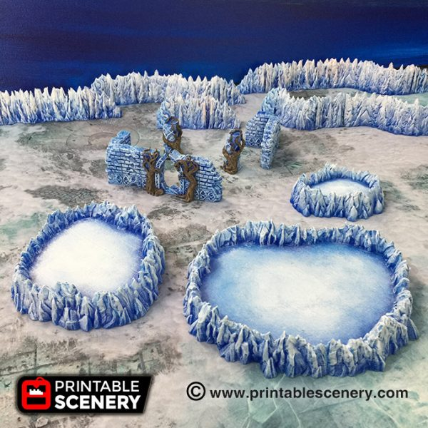Demon Age of Sigmar Warhammer dungeons dragons pathfinder 3dprint frostgrave ice