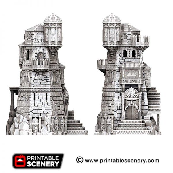3D printed Tower Fortress Dwarves
