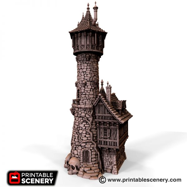 Evil Sorcerer Tower 3d printable