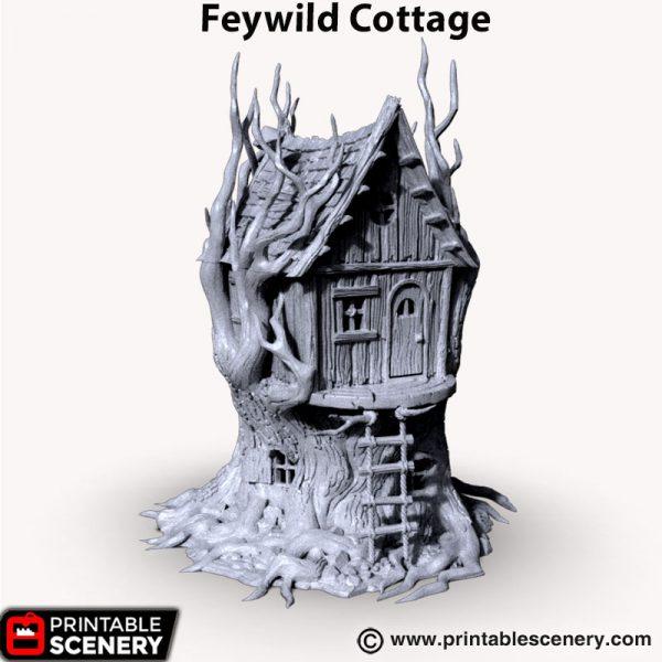 3d printed Feywild Cottage