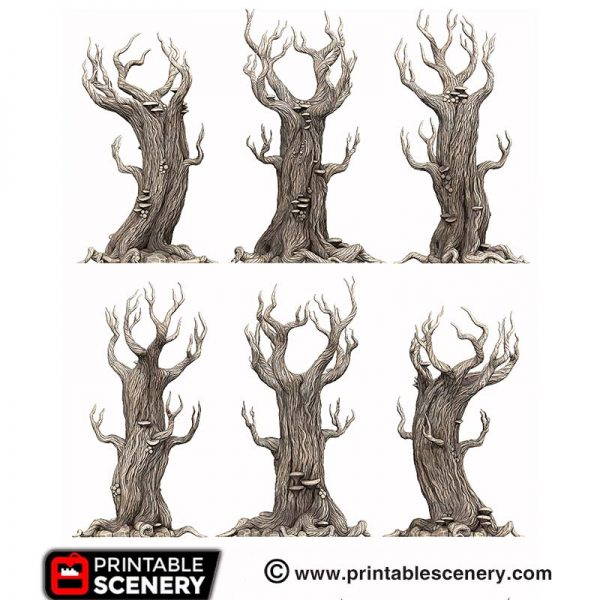 3D Printed Gloomwood Trees Elven Forest