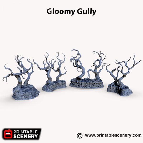 3d printed Gloomy Gully Trees