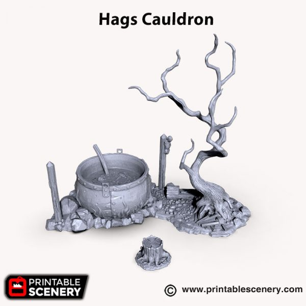 3d printed Hag Cauldron Witch