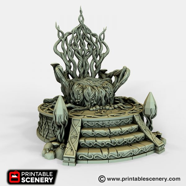 Elven Living Throne 3D printable