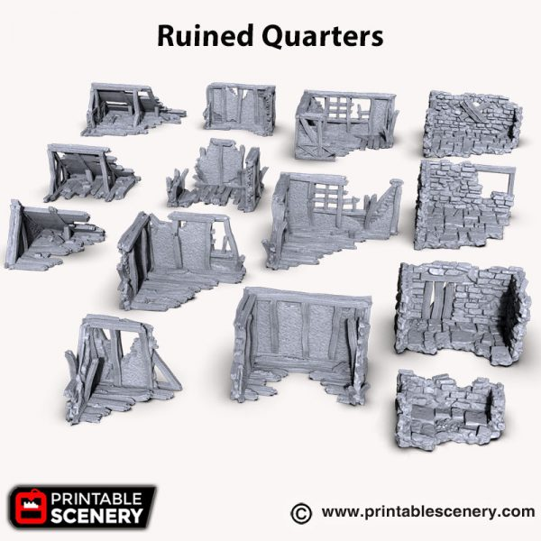 3d printed Ruined Building Quarters Shadowfey